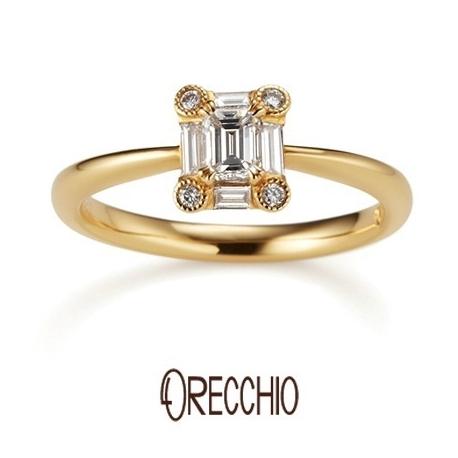 ORECCHIO(オレッキオ):<Siena~シエナ>婚約指輪 SE‐1109