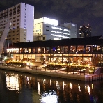 Restaurant&Cafe MOULiN:場所はキャナルテラス1階。なんば駅26C出口から徒歩1分。