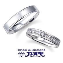 KAOKI(カオキ):男性に人気のシンプルでしっかりしたリング。女性はダイヤをプラスしてエレガントに☆
