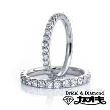 KAOKI(カオキ):統一されたダイヤモンドが、綺麗に輝くエタニティーリング。