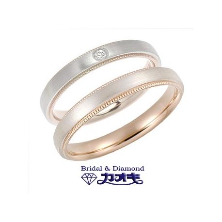 KAOKI(カオキ):ピンクゴールドとプラチナのシンプルな2層リング【Storys 2307】