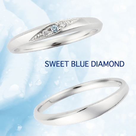 garden(ガーデン):ブルーダイヤモンドのマリッジリング~SWEET BLUE DIAMOND~