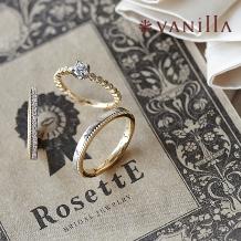VANillA:【VANillA】デュードロップ:ダイヤが輝くクラシカルで王道なハーフエタニティ