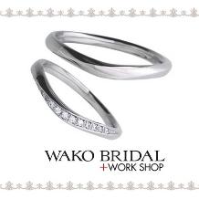 WAKO BRIDAL+WORK SHOP●和光ブライダル_☆新作☆上品なラインが美しい華やかリング♪【WAKO BRIDAL】