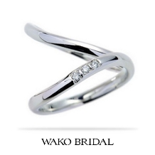 WAKO BRIDAL+WORK SHOP●和光ブライダル:指にしっくり馴染む☆優しい着け心地♪【相合傘】