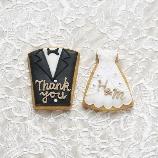 PIARY(ピアリー):さっちん工房の名入れアイシングクッキー(タキシード&ドレス)