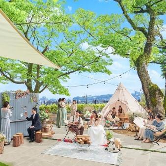 SHIROYAMA HOTEL kagoshima:【海と緑★リゾートフェア】試食×森の邸宅×グランピング体験