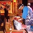 ウェディング&パーティ グレースバリ新宿店:なんとマグロの解体ショー!