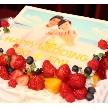 ウェディング&パーティ グレースバリ新宿店:プリントケーキ☆思い出の写真をケーキに…
