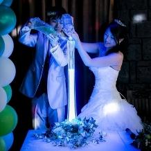 ウェディング&パーティ グレースバリ新宿店:ブルーの魔法で永遠に誓を交わすシャイニーブルー