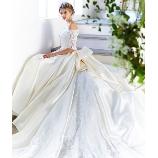 SPOSA BLANCA●大阪 丸福衣裳店:新作入荷チャペル挙式の後ろ姿を優雅に彩るロングトレーンのドレス