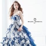 SPOSA BLANCA●大阪 丸福衣裳店:正規取扱店【ISAMU MORITA】新作★華やかなブルーと花柄刺繍が美しい