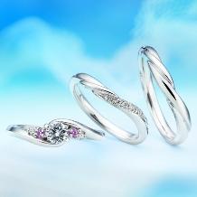 ブライダルリング工房 アートゆう_ゆうオリジナル婚約・結婚指輪セット{爪留めなめらか加工}【優彩~YUUSAI~】