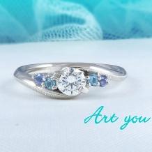 ブライダルリング工房 アートゆう:アートゆうオリジナル☆上質な着け心地リング☆婚約指輪【愛藍~AIRAN~】