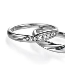 ブライダルリング工房 アートゆう:アートゆうオリジナル☆上質な着け心地リング☆結婚指輪 【飛翼~HIYOU~】
