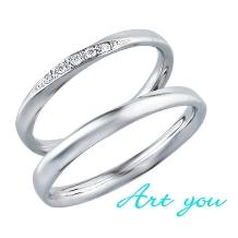 ブライダルリング工房 アートゆう:☆女性人気No1☆上質な着け心地リング☆結婚指輪【銀河~GINGA~】