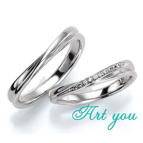 ブライダルリング工房 アートゆう:☆緩やかなカーブが上質な着け心地☆結婚指輪 【彗星~COMET~】