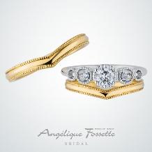 アンジェリック フォセッテ ブライダル:アンティーク調のリングでお探しの方へおすすめ♪素材をゴールドにしても可愛い!
