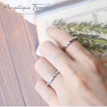 アンジェリック フォセッテ ブライダル:定番で飽きのこないシンプルな結婚指輪を希望される方へおすすめ♪