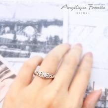 アンジェリック フォセッテ ブライダル:ティアラモチーフの婚約指輪をお探しの方必見☆甘すぎない大人ティアラが大人気♪