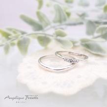 アンジェリック フォセッテ ブライダルの婚約指輪&結婚指輪