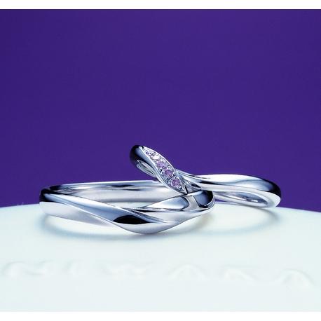 L Sakae(エルサカエ):俄(にわか) 結婚指輪【初桜】~ういざくら~