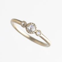 SunDance:【ローズカットダイヤの落ち着いた輝きは日常使いに最適】HC983~5