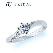4℃ BRIDAL:【4℃ブライダル】4℃ピュアプラチナエンゲージリング