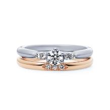 4℃ BRIDAL:【ピュアネス -清純-】ストレートラインにダイヤの煌めきを添えた上品な結婚指輪