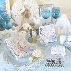 ARARS(アラース)●株式会社プチトリアノン:雪の結晶ドレス☆透明感あふれる招待状・席次表・席札
