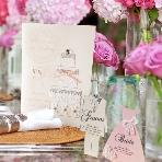 ARARS(アラース)●株式会社プチトリアノン:大人花嫁の上品で可愛いWedding。席次表・メニュー・プロフィールパンフレット