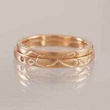 Lienjoux(リアンジュ)(旧アトリエヤマサン)_◆手作り結婚指輪◆ふたつのRingが奏でるひとつのモチーフ