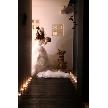 NaChura Resort Wedding(菜美ら):長いエントランスはキャンドルを使うと神秘的!!