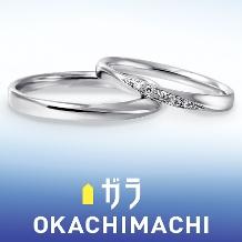 ガラOKACHIMACHI_10万以下でPt950人気のデザインが豊富に揃う☆ガラおかちまち マリッジリング