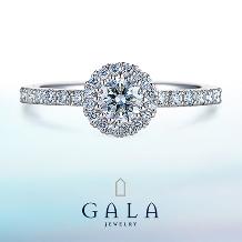 GALA JEWELRY_【GALA】存在感ある輝きを放つ、ゴージャスな取り巻きデザイン!