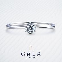 GALA JEWELRY_【GALA】ダイヤモンドの輝きを堪能♪クラシカルなエンゲージリング*