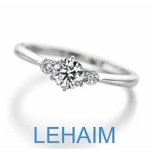 LEHAIM(レハイム)_【レハイム】 気品溢れる、両脇メレダイヤの正統派