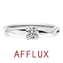 AFFLUX(アフラックス)_ゆびわ言葉:こころひとつ fondu(フォンデュ)婚約指輪【アフラックス】