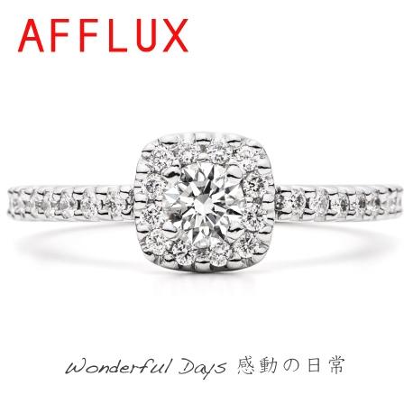 AFFLUX(アフラックス):センターをダイヤを取り巻く王道デザイン
