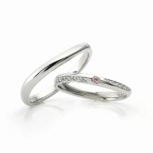 イノウエ:細身デザイン&プラチナ&ピンクダイヤモンドのリング♪♪