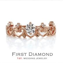 ファーストダイヤモンド_小さい頃お姫様になりたかった...。「可愛すぎる指輪」Lady Tiara