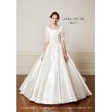 DUE NEGATIVO(ドゥエネガティヴォ):LAURA ASHLEY Bridal LA-57 五分袖の正統派ドレス
