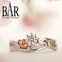 オートクチュール宝飾サロン J.C.BAR (ジェイシーバール)_☆ここにしかないデザイン!巡りくる桜に願いを込めた指輪☆プロポーズリング・富山