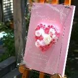 South Shore(サウスショア):ピンクがテーマの花嫁必見★お花とガラスのウェルカムボード『ピンクメモリアル』.