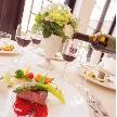 オール・セインツ ウェディング:2年連続口コミ2冠◆平日の特権!テラス付き会場で美食コース