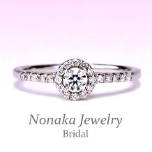 NONAKA JEWELRY(ノナカジュエリー)_【可愛く上品なお花のデザイン】プラチナダイアモンド婚約指輪