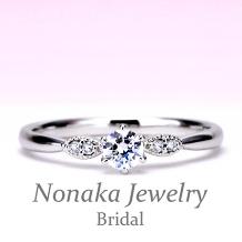 NONAKA JEWELRY(ノナカジュエリー)_【シンプルだけど平凡じゃない♪】ストレートデザイン プラチナダイアモンド婚約指輪