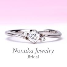 NONAKA JEWELRY(ノナカジュエリー)_【高級感がありリーズナブル♪】プラチナ製ダイアモンド婚約指輪[ESH4-15n]