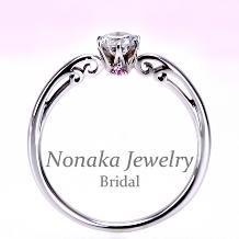 NONAKA JEWELRY(ノナカジュエリー)_【可憐 Karen】希少な天然ピンクダイアと透かし模様がエレガントなPt婚約指輪