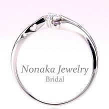 NONAKA JEWELRY(ノナカジュエリー)_【可憐 Karen】Pt【 ピンクダイヤとハートの透かし模様が可愛い】婚約指輪